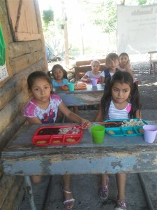 Some of the beautiful children whose stomachs and hearts are being filled at the feeding program.