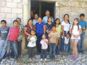 Javier with a group of Pame believers.