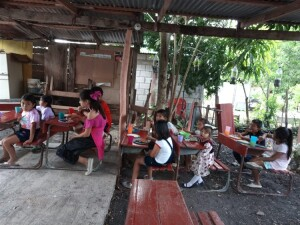 At the Hidden Manna Children's ministry these little children receive not only food for their natural hunger, but child-level teaching about Jesus.