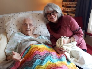 A fairly recent picture of my mother with Theresa.