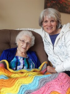 My mother and Theresa recently, but before the last hospitalization and stroke.