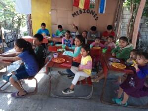 Attentive children at the Hidden Manna Children's Program in Buenos Aires.