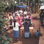 Ministering the Word of God to the villagers following a medical clinic