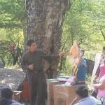 Javier teaching the children