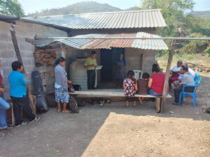 Baking under the sun on a hot day at the new church plant just outside the community of Tanlú